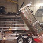 Remorque en aluminium dompeur